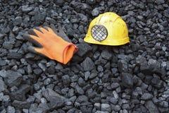 Carbone di estrazione mineraria Immagine Stock