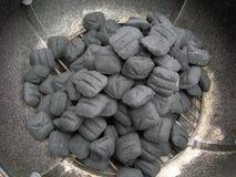 Carbone di legna Fotografia Stock Libera da Diritti