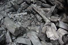 Carbone di legna Immagine Stock Libera da Diritti