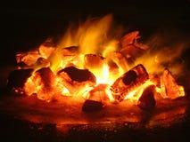 Carbone di legna Fotografia Stock