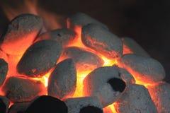 Carbone di legna caldo Immagini Stock Libere da Diritti