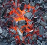 Carbone di legna d'ardore Fotografie Stock
