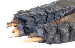 Carbone di legna isolato Immagini Stock