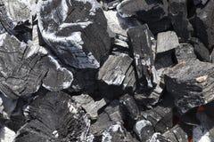 Carbone estinto immagine stock