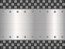 Carbone et de plaque métallique illustration libre de droits