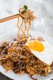 Carbone fritto scalpore Kuey Teow Fotografia Stock