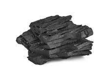 Carbone isolato su fondo bianco Fotografia Stock