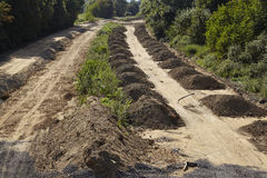 Carbone molle - precedentemente autostrada A4 vicino a Merzenich Fotografia Stock
