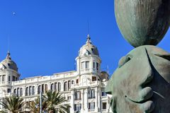 The Carbonell house in Alicante stock photo