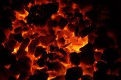 Carbones ardientes Fotografía de archivo libre de regalías