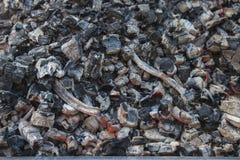 Carbones ardientes del fondo abstracto Textura Fotografía de archivo
