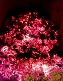 carbones de la chimenea foto de archivo