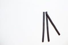 Carbones de leña de dibujo naturales Foto de archivo