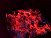 Carbones del Bbq fotografía de archivo