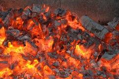 Carbones del fuego Imagenes de archivo