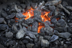 carbones heated fotos de archivo libres de regalías