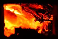 Carbones vivos imagen de archivo