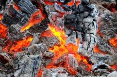 Carbones vivos imagenes de archivo