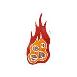carboni brucianti del retro fumetto royalty illustrazione gratis