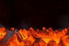 Carboni caldi Fotografia Stock Libera da Diritti