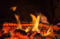 Carboni caldi immagini stock