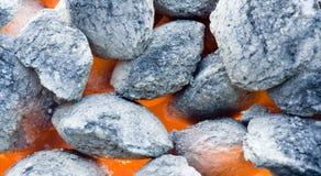 Carboni del barbecue Fotografie Stock Libere da Diritti