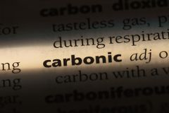 Carbonic. Word in a dictionary.  concept royalty free stock photos