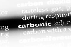 Carbonic. Word in a dictionary.  concept Stock Image