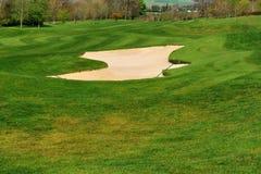 Carbonile con la sabbia su un terreno da golf Fotografia Stock Libera da Diritti
