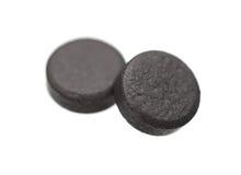 Carbonio della sostanza assorbente delle compresse medicinali fotografie stock libere da diritti