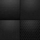 Carbono e textura metálica - ilustração do fundo Fotos de Stock