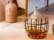 Carboy on the floor Stock Photo