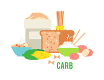 Free Carbs Food Vector Illustration. Royalty Free Stock Image - 73167096