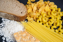Carbs. Kohlenhydrate - the german word for carbs Royalty Free Stock Photos