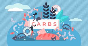Free Carbs Vector Illustration. Flat Tiny Sugar And Wheat Food Persons Concept. Royalty Free Stock Photos - 154898708