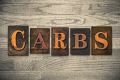 Carbs Wooden Letterpress Theme Stock Photos