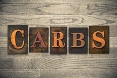 Carbs Wooden Letterpress Theme Stock Photos