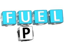 carburant 3D vers le haut des mots croisé Photo libre de droits