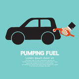 Carburant de pompage Photos stock