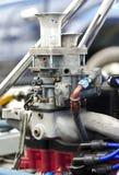 Carburateur de voiture de sport de vintage avec des trompettes Images stock