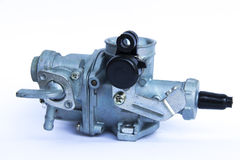 Carburateur pour la moto photographie stock
