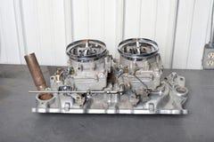 Carburatore quadruplo gemellato Fotografie Stock Libere da Diritti