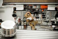 Carburetor. Closeup on a high performance car Stock Photos