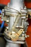 Carburetor. Vintage RV carburetor and fuel lines closeup Stock Photos