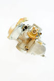 Carburetor. Isolated carburetor from a small engine on white Royalty Free Stock Photo