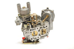 Carburetor. From car engine, isolated on white Royalty Free Stock Photography