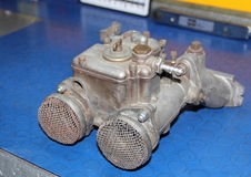 Carburetor. Double body used on machines some years ago Stock Photography