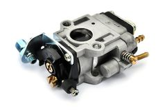 Carburetor on an isolated background Stock Image
