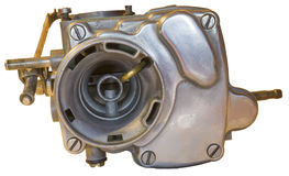 Carburetor. Old auto carburetor on a isolated background Stock Photos
