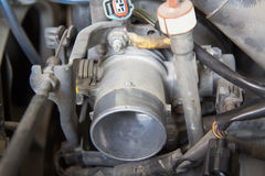 Carburetor of old car Royalty Free Stock Images